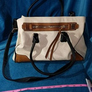 Cream and brown Aldo leather bag